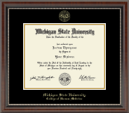 Michigan State University Diploma Frame - Gold Embossed Diploma Frame in Chateau