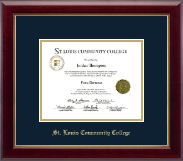 Saint Louis Community College  Florissant Valley Diploma Frame - Gold Embossed Diploma Frame in Gallery