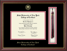 State University of New York Cortland Diploma Frame - Tassel Diploma Frame in Newport