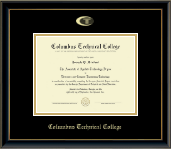 Columbus Technical College Diploma Frame - Gold Embossed Diploma Frame in Onexa Gold
