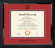 Cornell University Diploma Frame - Black Embossed Diploma Frame in Eclipse