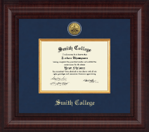 Smith College Diploma Frame - Presidential Gold Engraved Diploma Frame in Premier