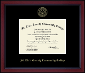 St. Clair County Community College Diploma Frame - Gold Embossed Diploma Frame in Academy