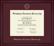 Oklahoma Christian University Diploma Frame - Gold Embossed Achievement Edition Diploma Frame in Academy