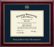 Cheyney University Diploma Frame - Gold Embossed Diploma Frame in Gallery