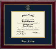 Ithaca College Diploma Frame - Gold Embossed Diploma Frame in Gallery
