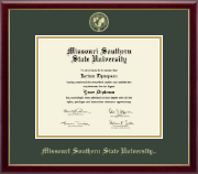 Missouri Southern State University Diploma Frame - Gold Embossed Diploma Frame in Galleria