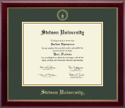 Stetson University Diploma Frame - Gold Embossed Diploma Frame in Gallery