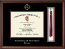 University of Wisconsin Madison Diploma Frame - Tassel Diploma Frame in Newport