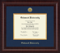 Oakwood University Diploma Frame - Presidential Gold Engraved Diploma Frame in Premier