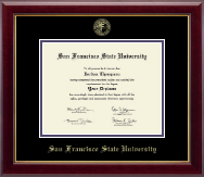 San Francisco State University Diploma Frame - Gold Embossed Diploma Frame in Gallery
