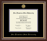 San Francisco State University Diploma Frame - Gold Engraved Medallion Diploma Frame in Hampshire