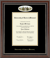 University of Central Missouri Diploma Frame - Campus Cameo Diploma Frame in Chateau