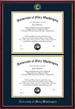 University of Mary Washington Diploma Frame - Double Diploma Frame in Galleria