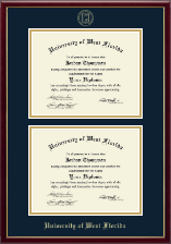 University of West Florida Diploma Frame - Double Diploma Frame in Galleria