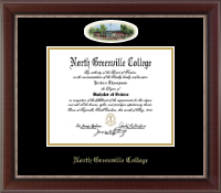 North Greenville University Diploma Frame - Campus Cameo Diploma Frame in Chateau