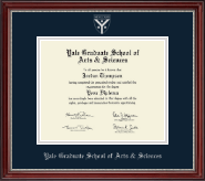 Yale University Diploma Frame - Silver Embossed Diploma Frame in Kensington Silver
