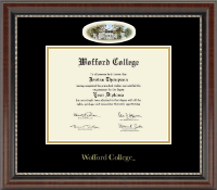 Wofford College Diploma Frame - Campus Cameo Diploma Frame in Chateau