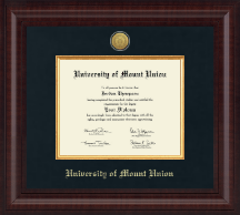 University of Mount Union Diploma Frame - Presidential Silver Engraved Diploma Frame in Premier