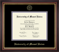 University of Mount Union Diploma Frame - Gold Embossed Diploma Frame in Regency Gold