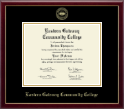 Eastern Gateway Community College Diploma Frame - Gold Embossed Diploma Frame in Galleria