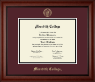 Meredith College Diploma Frame - Gold Embossed Diploma Frame in Cambridge