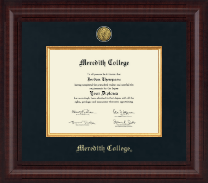 Meredith College Diploma Frame - Premier Gold Engraved Edition Diploma Frame in Premier