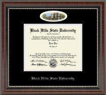 Black Hills State University Diploma Frame - Campus Cameo Diploma Frame in Chateau