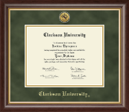 Clarkson University Diploma Frame - Gold Engraved Medallion Diploma Frame in Hampshire