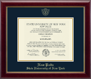 State University of New York  New Paltz Diploma Frame - Gold Embossed Diploma Frame in Gallery