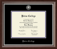 Paine College Diploma Frame - Silver Engraved Medallion Diploma Frame in Devonshire