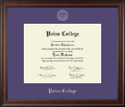 Paine College Diploma Frame - Silver Embossed Diploma Frame in Studio