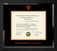 Princeton University Diploma Frame - Orange Embossed Diploma Frame in Eclipse