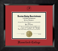 Haverford College Diploma Frame - Black Embossed Diploma Frame in Eclipse