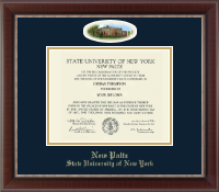 State University of New York  New Paltz Diploma Frame - Campus Cameo Diploma Frame in Chateau