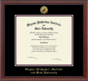 Virginia Tech Diploma Frame - Gold Engraved Medallion Diploma Frame in Signature
