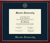 Shorter University Diploma Frame - Gold Embossed Diploma Frame in Galleria