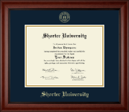 Shorter University Diploma Frame - Gold Embossed Diploma Frame in Cambridge