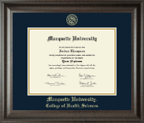 Marquette University Diploma Frame - Gold Embossed Diploma Frame in Acadia