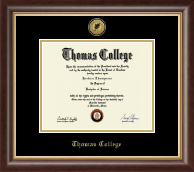 Thomas College Diploma Frame - Gold Engraved Medallion Diploma Frame in Hampshire
