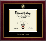 Thomas College Diploma Frame - Gold Embossed Diploma Frame in Gallery