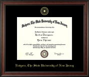 Rutgers University, The State University of New Jersey Diploma Frame - Gold Embossed Diploma Frame in Studio