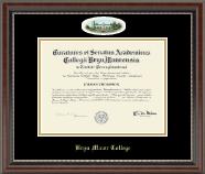 Bryn Mawr College Diploma Frame - Campus Cameo Diploma Frame in Chateau