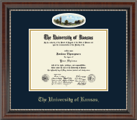 The University of Kansas Diploma Frame - Campus Cameo Diploma Frame in Chateau