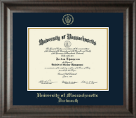 University of Massachusetts Dartmouth Diploma Frame - Gold Embossed Diploma Frame in Acadia