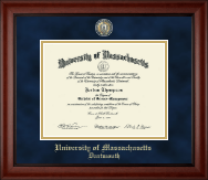 University of Massachusetts Dartmouth Diploma Frame - Masterpiece Medallion Diploma Frame in Cambridge