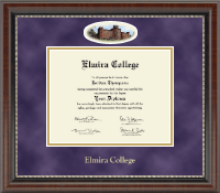 Elmira College Diploma Frame - Campus Cameo Diploma Frame in Chateau