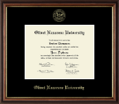 Olivet Nazarene University Diploma Frame - Gold Embossed Diploma Frame in Williamsburg