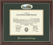 Dartmouth College Diploma Frame - Campus Cameo Diploma Frame in Chateau