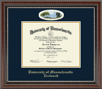 University of Massachusetts Dartmouth Diploma Frame - Campus Cameo Diploma Frame in Chateau